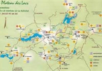 carte circuits des lacs