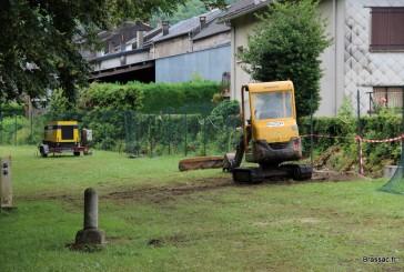 La réparation du mur du canal se termine…