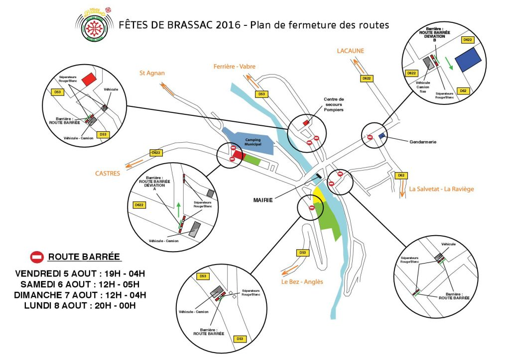Plan de fermeture des routes