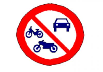 interdit tous vehicules