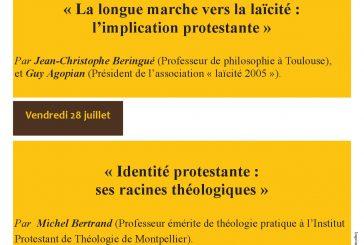 Conférences du mois de juillet  au Musée du Protestantisme de Ferrières.