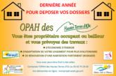 OPAH – Dépôt des dossiers jusqu'au 31 décembre 2020