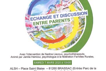 Echanges et discussions entre parents