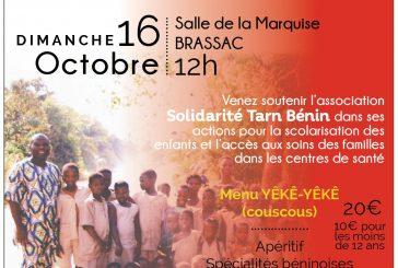 Repas «yèkè-yèkè» Solidarité Tarn Bénin – 16 Octobre