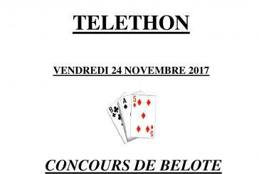 Concours de Belote pour le TELETHON