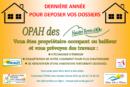 OPAH – Dernière année pour le dépôt des dossiers