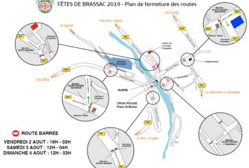 Fêtes de Brassac : déviations et plan de circulation